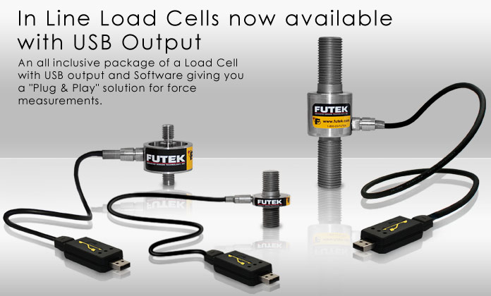 In Line Load Cells now available with USB Output