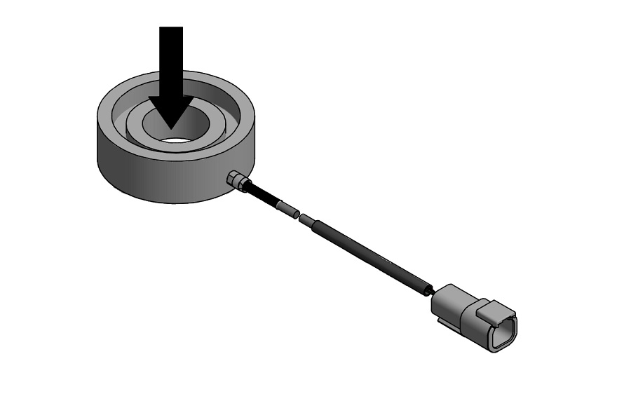 Custom Outdoor Rated Thru Hole Donut/Washer Load Cell w/ Recessed Inner Diameter